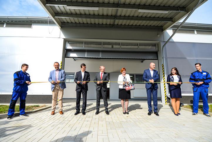 Slavnostní otevření nové haly odborného výcviku SOU Stavební Plzeň